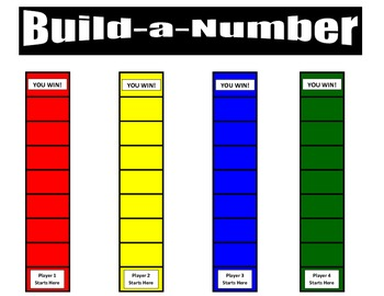 3rd Grade Place Value Build -a-Number Game for Common Core