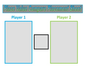 3rd Grade Place Value Comparing Game for Common Core