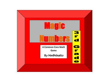 3rd Grade Place Value Magic Numbers Game for Common Core