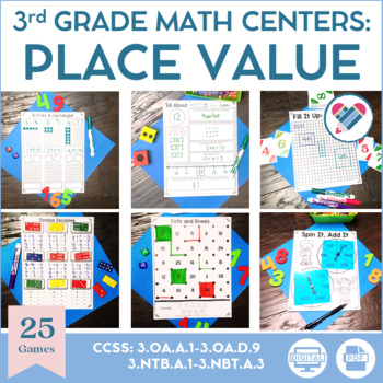 3rd Grade Place Value Math Centers