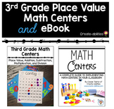 3rd Grade Place Value Math Centers and eBook BUNDLE