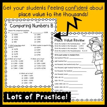 3rd Grade Place Value Packet!