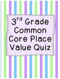 3rd Grade Place Value Quiz
