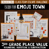 Place Value Review Escape Room 3rd Grade / Emoji Test Prep