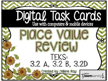 3rd Grade Place Value Review (Unit 1) Digital Boom Cards: TEKS: 3.2A, 3.2B, 3.2D