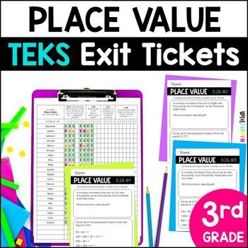 3rd Grade Place Value TEKS Exit Slips * Exit Tickets