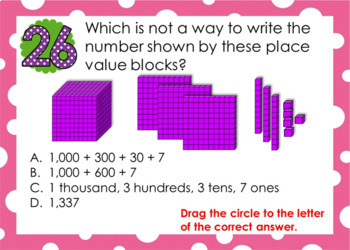 3rd Grade and 4th Grade Place Value Task Cards - Scoot - TEKS & CCSS aligned