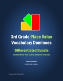 3rd Grade Place Value Vocabulary Dominoes (complete differ