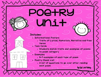 3rd Grade Poetry Task Cards