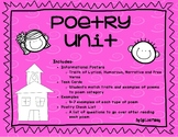3rd Grade Poetry Unit Including Task Cards