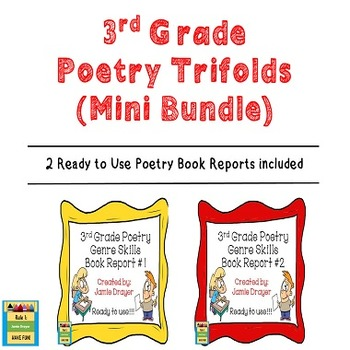 3rd Grade Poetry Trifold Book Reports Mini Bundle