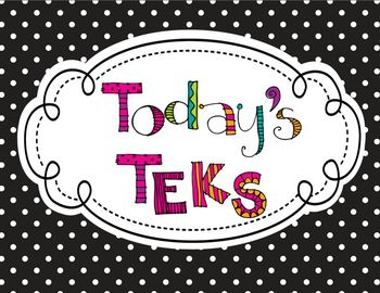 "3rd Grade Polka Dot Themed ELAR TEKS ""I Can"" Statement Posters"
