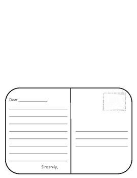 3rd Grade Postcard Activity SS.G.1.3
