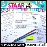 3rd Grade Practice Math STAAR Test by Marvel Math
