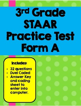 Practice staar test questions teaching resources teachers pay teachers 3rd grade practice staar test 3rd grade practice staar test fandeluxe Gallery