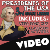 3rd Grade Presidents Day Activities & Worksheets with Video
