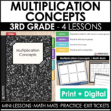 3rd Grade Multiplication Concepts Guided Math Curriculum -