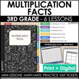 3rd Grade Multiplication Facts Guided Math Curriculum Mini