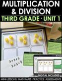 3rd Grade Multiplication & Division Math Curriculum Unit 1