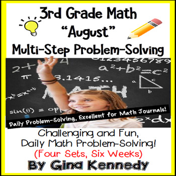 3rd Grade August Problem Solving: Daily Multi-Step (Two-Step) Math Problems