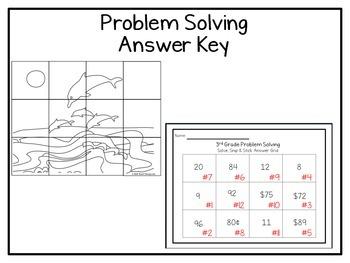 3rd Grade Problem Solving: Solve, Snip & Stick: TEKS 3.4K; CCSS: 3.OA.A.3