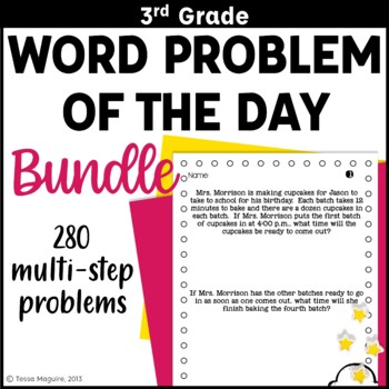 3rd Grade Word Problem of the Day Story Problems- BUNDLE