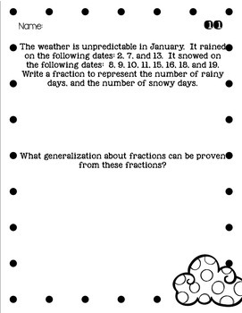 3rd Grade Problem of the Day Story Problems- January