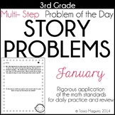 3rd Grade Word Problem of the Day Story Problems- January