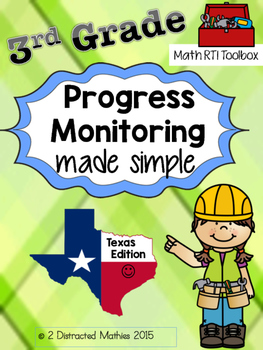 3rd Grade Progress Monitoring Pack:  Texas Edition