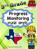 3rd Grade Progress Monitoring Pack:  Texas Edition