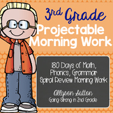 3rd Grade Projectable Spiral Review Morning Work 180 Days