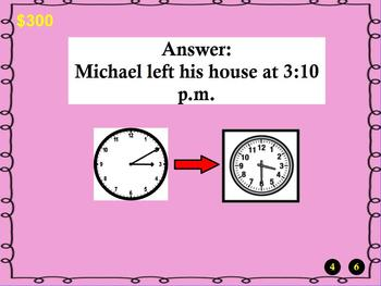 3rd Grade Promethean Jeopardy Game Flip Chart CCSS 3.MD.1: Time/Word Problems