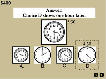 3rd Grade Promethean/ClassFlow Jeopardy Game CCSS 3.MD.1: Time/Word Problems