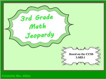 3rd Grade Promethean Jeopardy Game Flip Chart CCSS 3.MD.1: