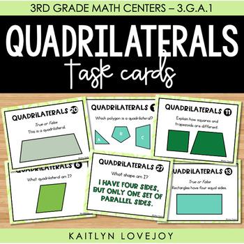 3rd Grade Quadrilateral Task Cards