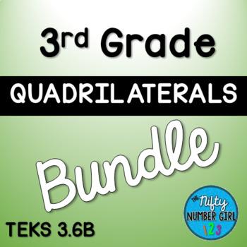 3rd Grade Quadrilaterals Bundle TEKS 3.6B