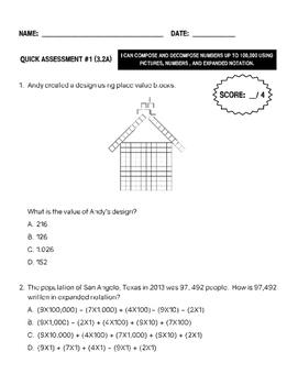 BUNDLE 3rd Grade Math Quick Assessments - ALL Readiness Standards (TEKS)
