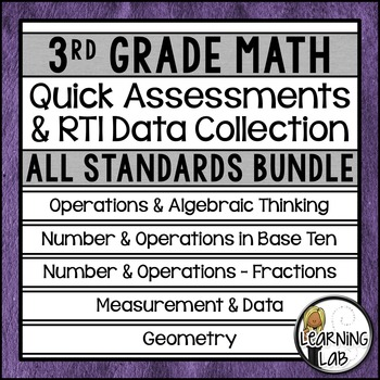 3rd Grade Quick Assessments and RTI Data Collection - All
