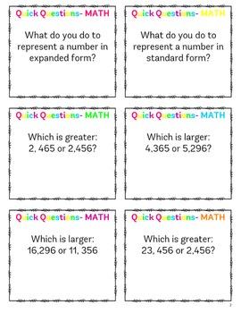 3rd Grade Quick Questions