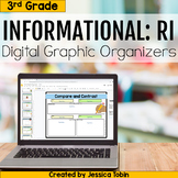3rd Grade RI Informational Digital Graphic Organizers- with Google Slides