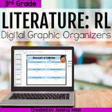 3rd Grade RL Literature Digital Graphic Organizers- For Distance Learning