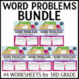 3rd Grade Word Problems Bundle