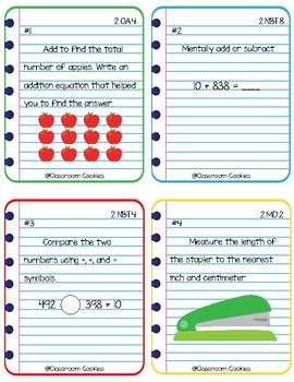 3rd Grade Readiness Math Task Cards (Common Core Aligned)