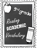 3rd Grade Reading Academic Vocabulary