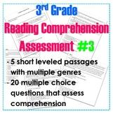 3rd Grade Leveled Reading Comprehension Assessment #3- Col