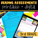 3rd Grade Reading Assessments | Printable and Digital | Distance Learning