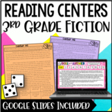 3rd Grade Reading Centers | Fiction with Digital Reading A