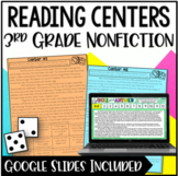 3rd Grade Reading Centers | Nonfiction Roll and Answer Rea