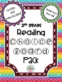 3rd Grade Reading Choice Board Bundle- FICTION & NON-FICTION! -Distance Learning
