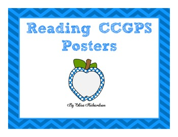 3rd Grade Reading Common Core Standards Posters (Georgia CCGPS)